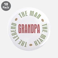 "Grandpa Man Myth Legend 3.5"" Button (10 pack)"