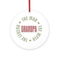 Grandpa Man Myth Legend Ornament (Round)