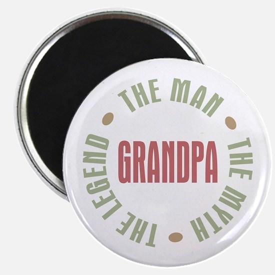 "Grandpa Man Myth Legend 2.25"" Magnet (10 pack)"