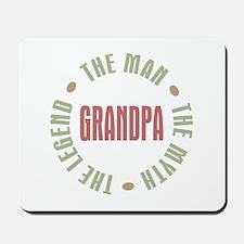 Grandpa Man Myth Legend Mousepad