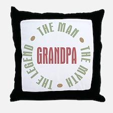 Grandpa Man Myth Legend Throw Pillow