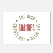 Grandpa Man Myth Legend Postcards (Package of 8)
