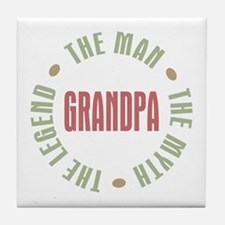 Grandpa Man Myth Legend Tile Coaster