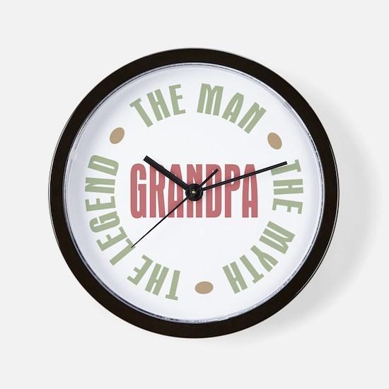 Grandpa Man Myth Legend Wall Clock