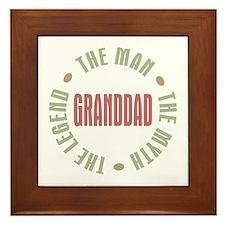 GrandDad Man Myth Legend Framed Tile