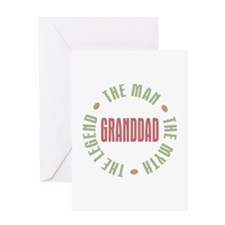 GrandDad Man Myth Legend Greeting Card