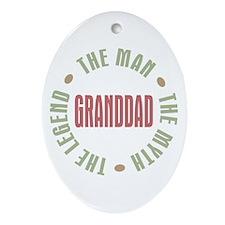 GrandDad Man Myth Legend Oval Ornament