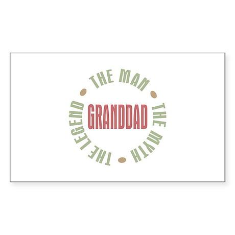 GrandDad Man Myth Legend Rectangle Sticker