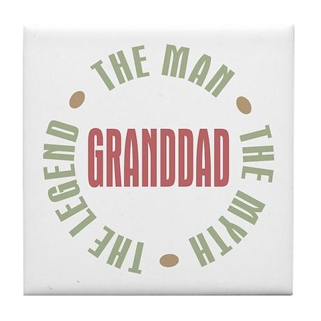 GrandDad Man Myth Legend Tile Coaster