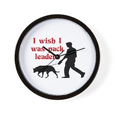 I WISH I WAS PACK LEADER Wall Clock