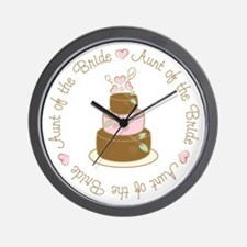 Aunt of the Bride Wall Clock