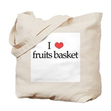 I Heart Fruits Basket Tote Bag