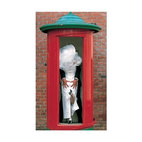 'Phone Booth' Rectangle Sticker 50 pk)