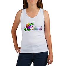 Rainbow Flower Bridesmaid Women's Tank Top
