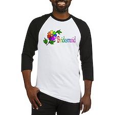 Rainbow Flower Bridesmaid Baseball Jersey