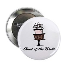 Aunt of the Bride Pink Cake Button