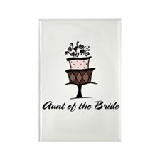 Aunt of the Bride Pink Cake Rectangle Magnet