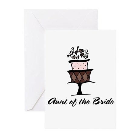 Aunt of the Bride Pink Cake Greeting Cards (Packag