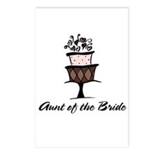 Aunt of the Bride Pink Cake Postcards (Package of