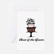 Aunt of the Groom Pink Cake Greeting Cards (Packag