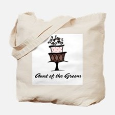 Aunt of the Groom Pink Cake Tote Bag