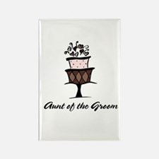 Aunt of the Groom Pink Cake Rectangle Magnet