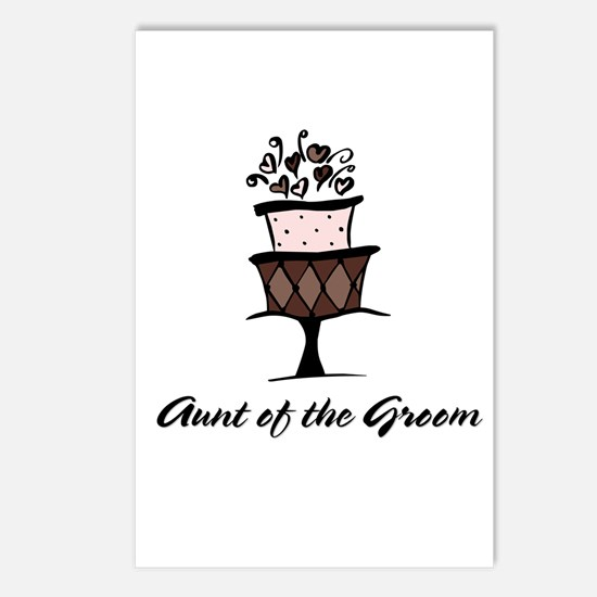 Aunt of the Groom Pink Cake Postcards (Package of