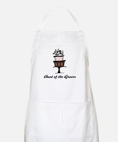 Aunt of the Groom Pink Cake BBQ Apron
