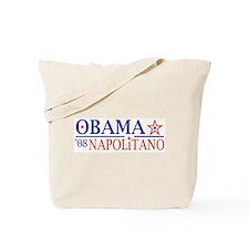 Obama Napolitano 08 Tote Bag