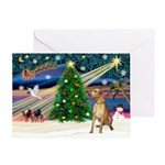 Xmas Magic & Gr Dane Greeting Card