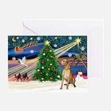 Xmas Magic & Gr Dane Greeting Card