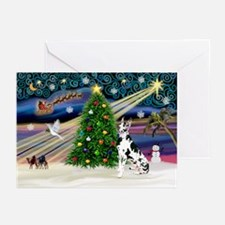 XmasMagic/Great Dane (H) Greeting Cards (Pk of 10)