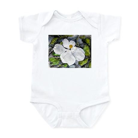 Magnolia tree flower art wate Infant Bodysuit