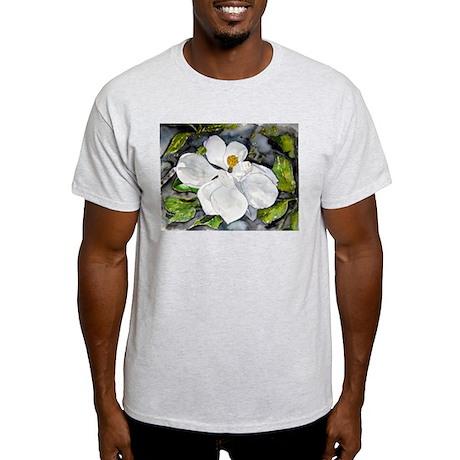 Magnolia tree flower art wate Light T-Shirt