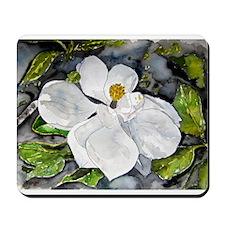 Magnolia tree flower art wate Mousepad