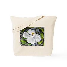 Magnolia tree flower art wate Tote Bag