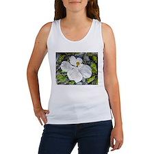 Magnolia tree flower art wate Women's Tank Top