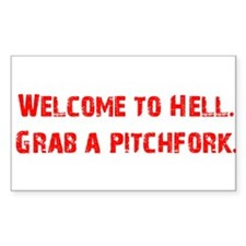 Welcome to Hell Rectangle Decal