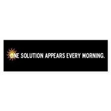 Solar Power Solution Bumper Bumper Sticker