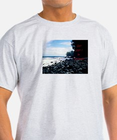 Get Lost! Black Beach T-Shirt