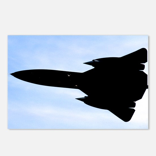 SR-71 Blackbird Silhouette Postcards (Package of 8