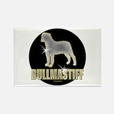 Bling Bullmastiff Rectangle Magnet (100 pack)