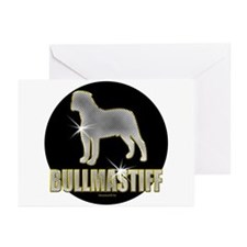 Bling Bullmastiff Greeting Cards (Pk of 20)