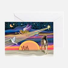 XmasStar/ItalianGreyt1 Greeting Card