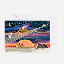 XmasStar/Italian Greyt (6) Greeting Card