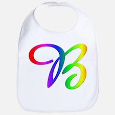 Rainbow Cursive B Bib