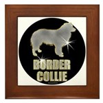 Bling Border Collie Framed Tile