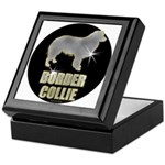 Bling Border Collie Keepsake Box