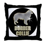 Bling Border Collie Throw Pillow