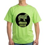 Bling Border Collie Green T-Shirt